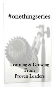#onethingx
